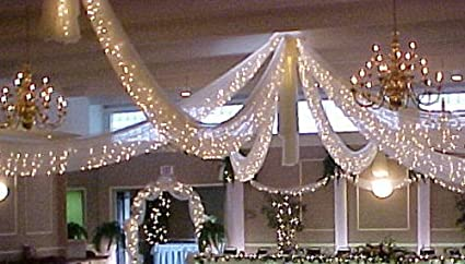 springrose christmas wedding decoration light set 24 feet long 100 clear bulbs with white