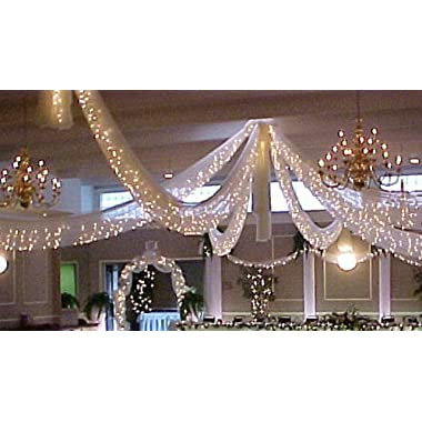 SPRINGROSE Christmas Wedding Decoration Light Set, 24 Feet Long, 100 Clear Bulbs with White Cord