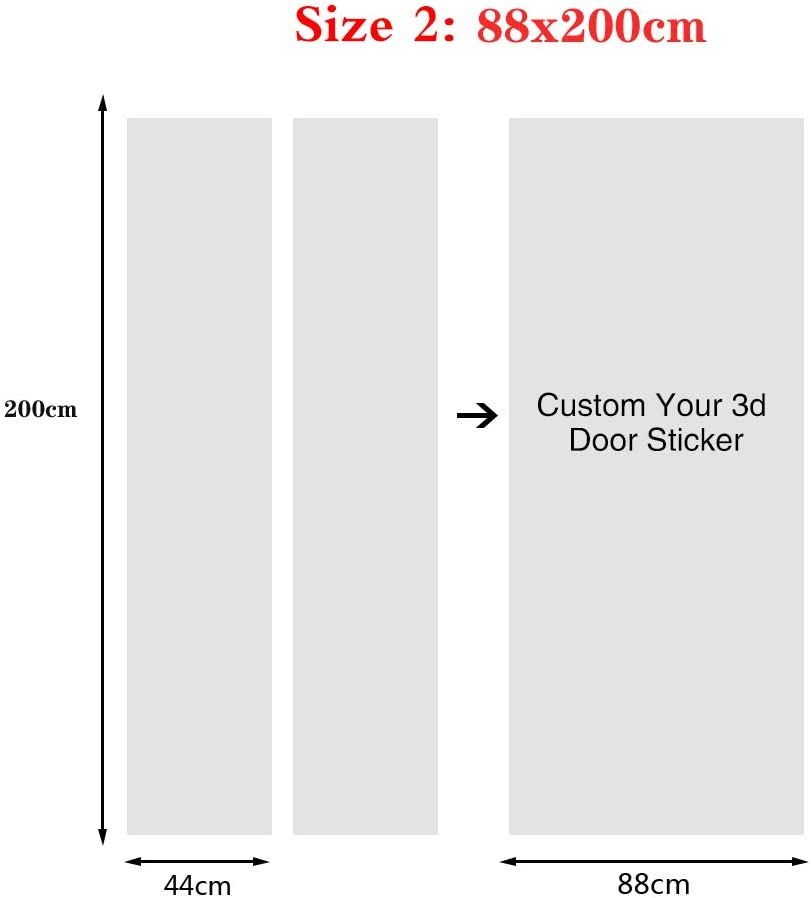 Salle De Bain Salon Ch/âteau /Étoil/é 77X200Cm- Autocollant En Vinyle Trompe L/Œil Pour Porte Chambre D/écoration Pour Porte Cuisine Sticker Porte Auto-Adh/ésif Effet 3D