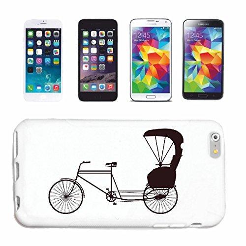 """cas de téléphone iPhone 6+ Plus """"SILHOUETTE VÉLO DE MONTAGNE DE BICYCLETTE REPARATION CYCLISME SPORT BIKE TOUR VELO SHIRT"""" Hard Case Cover Téléphone Covers Smart Cover pour Apple iPhone en blanc"""