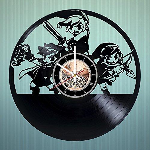 Legend of Zelda HANDMADE Vinyl Record Wall Clock - Bedroom wall decor - Gift ideas for boys and girls, teens - Video Game Unique Art (Princess Midna Costume)