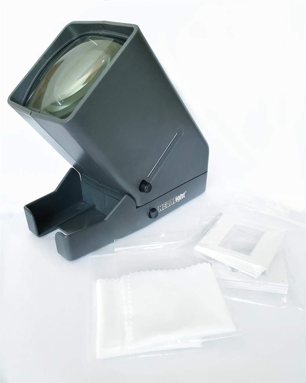 Medalight Portable 35mm Film LED Slide and Negative Viewer with Six Slide Mounts and Two Lens Cleaning Cloth by Medalight