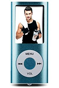 """BERTRONIC Portable - Reproductor de MP3 (16 GB, pantalla de 1.3"""", Radio), azul [Importado]"""