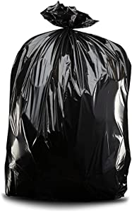"Plasticplace Contractor Trash Bags 55-60 Gallon ¦ 6.0 Mil ¦ Black Heavy Duty Garbage Bag ¦ 36"" x 58"" (20 Count) (CON55X620A)"