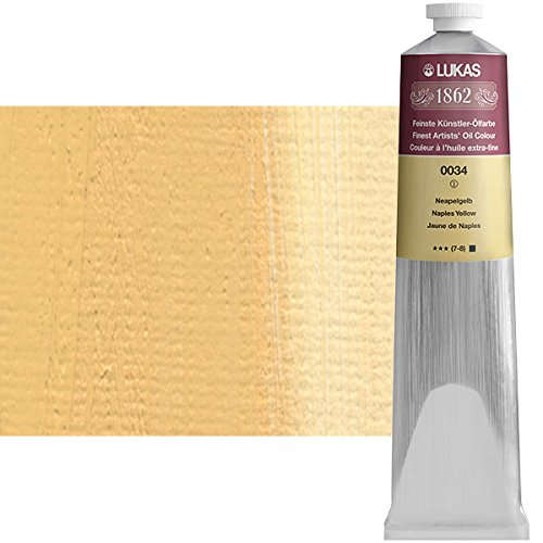 LUKAS 1862 Artists' Oil Paint Master Quality German Engineered Oil-Based Art Paints - 200ml Single Tubes - [Naples Yellow]