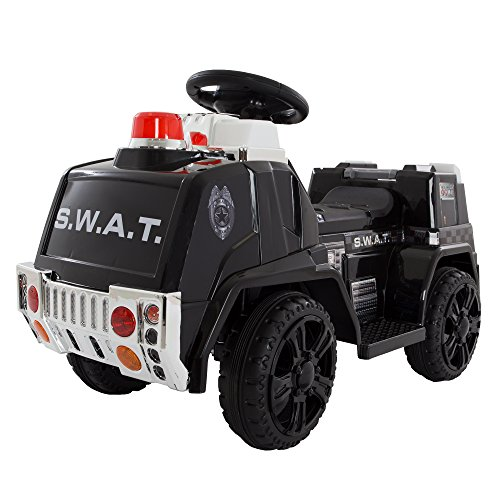 Hey! Play! 80-ZV119SWAT Swat Truck for Kids, Battery Powered Ride Lil' Rider-Toys for Boys and Girls, Toddler-5 Years Old by Hey! Play!