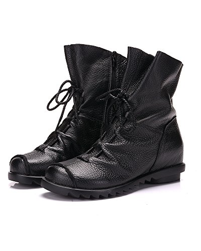 or Handmade Lined Black Women's Fleece Boots For Comfirtable Soft Mrs Winter Fall Duberess Leather BFxwXtqP