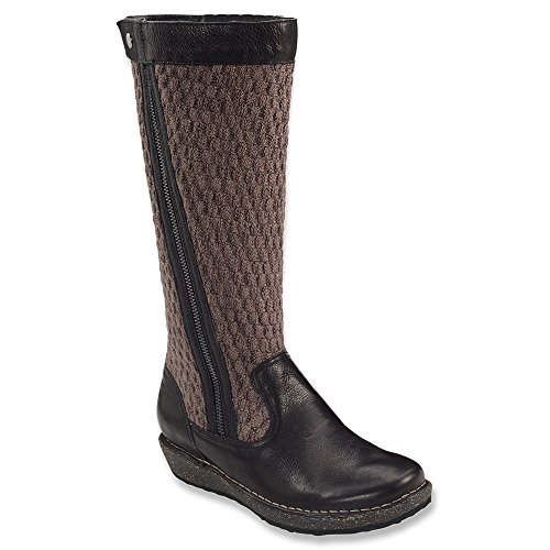 Aetrex Womens Amber Boot Black Tumbled Leather/Cork vCIEcy3mNV