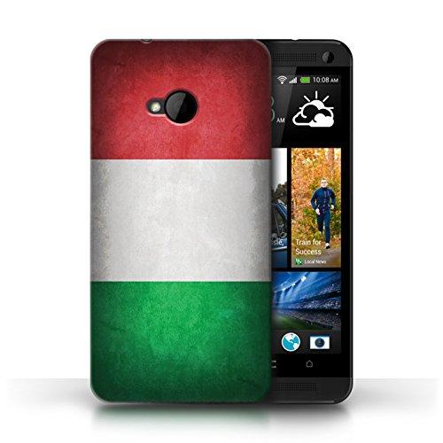 Etui / Coque pour HTC One/1 M7 / Italie/italien conception / Collection de Drapeau