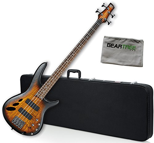 Ibanez SR30TH4IIDEF SR Standard Bass Guitar - Dragon Eye Burst Flat 30th Anniversary Limited Edition w/ Hard Case and Geartree Cloth (30th Anniversary Electric Guitar)