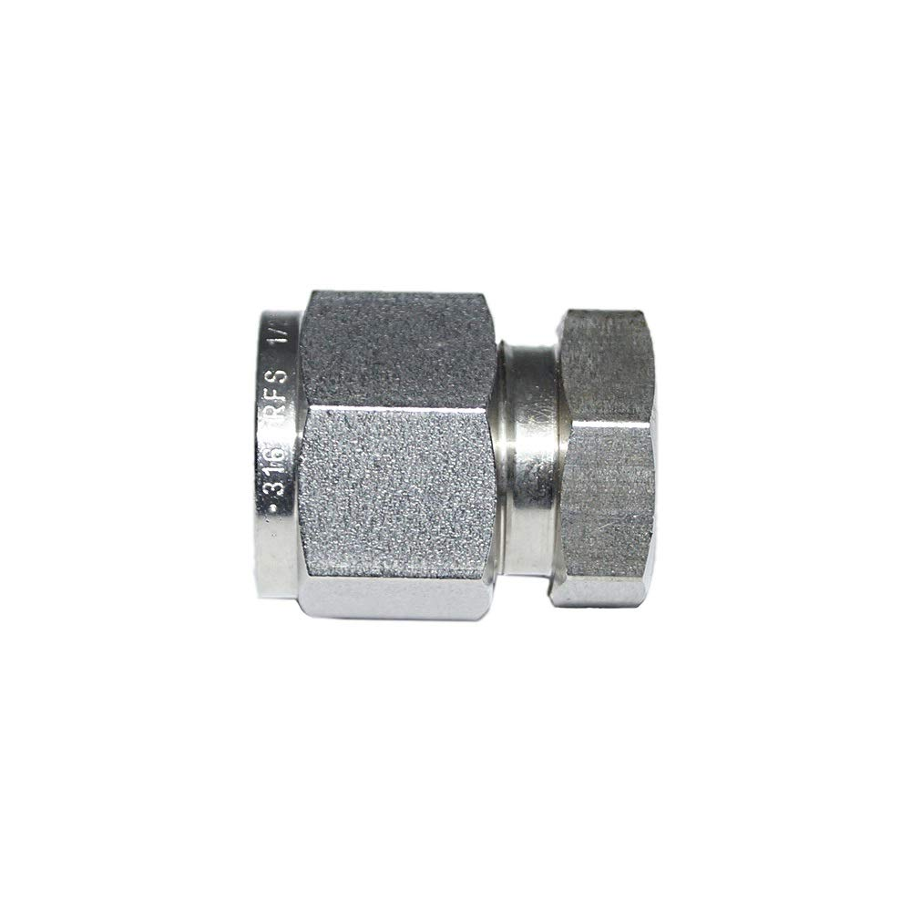 25.40MM OD Double Ferrule Fitting 1OD Cap Stainless Steel SS316 Material