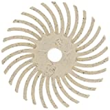 3M Radial Bristle Discs 1'' with 1/8'' Hole Size 120 Grit White 12PLY