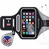 STOP! - Check DanForce USA Armband For iPhone 7+ 6+ 6s Plus , Touch Supported, iphone 7+ armband for running & Sports Workout Exercise, Gym Arm Band Case with Card Pockets and Key Slot (U.S.A design)