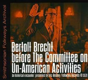 Bertolt Brecht Committee Un-American Activities