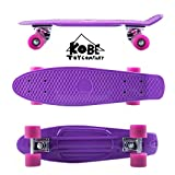 Kobe 40-32003 Purple Penny Skate with Pink Wheels, 22-Inch
