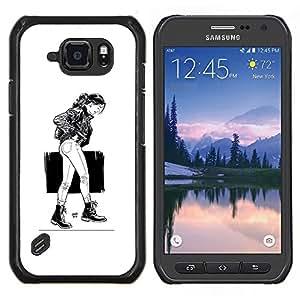 TECHCASE---Cubierta de la caja de protección para la piel dura ** Samsung Galaxy S6 Active G890A ** --Chica Emo Sexy