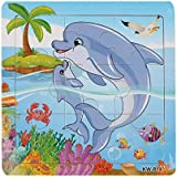 colorful Wooden Zoo Animals Educational Jigsaw Puzzles Whale