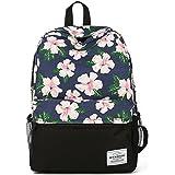 Women floral Canvas Laptop Backpack Cute School College Shoulder Bag for Teenage Girls