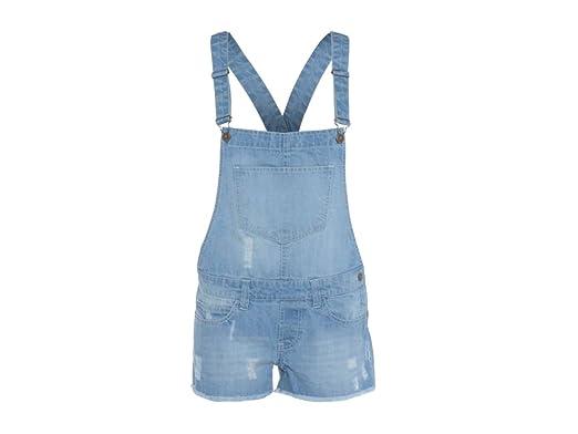 9bd5a51b551 Womens Ladies Denim Style Dungaree Shorts Dress Jumpsuit Size 8 10 12 14 16  Monica (