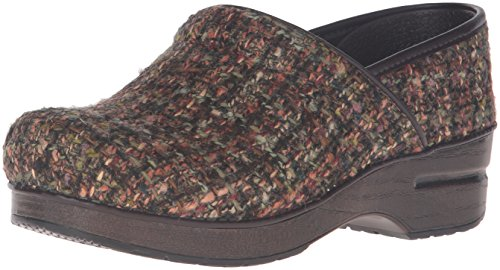Dansko Women's Fabric Pro Mule, Brown Textured, 40 EU/9.5-10 M US ()