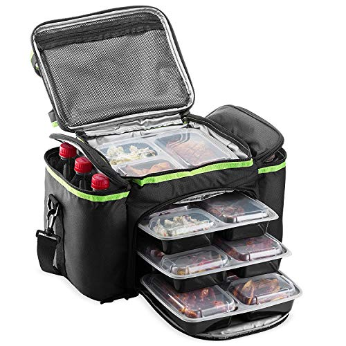 - Cooler Bag Insulated By Outdoorwares Large Capacity Durable, To Keep Foods And Drinks In The Right Temperature - Good For Travel, Picnic, Beach Hiking, Camping ETC.(Containers Not Included))