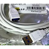 USB 3.0 Extension Moulded 5 Meter White Cable Type A Female to Male 5M