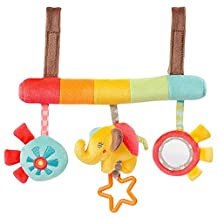 Rattle Toy - Baby Bed Stroller Car Seat Hanging Educational Rattle Plush Animal Elephant Toys