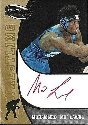 2009 Press Pass Fusion Gold Muhammed MO Lawal On Card Red Ink Autograph 168/199