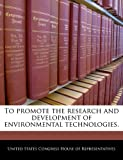 To Promote the Research and Development of Environmental Technologies, , 1240209053