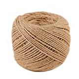 (3mm x 100m(about 109 yd)) Natural Jute Twine Macrame Best Arts Crafts Gift Twine Christmas Twine DIY Industrial Packing Materials Durable String for Gardening Applications