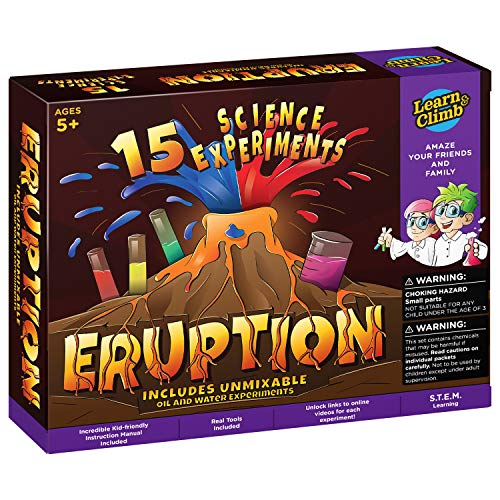 Learn & Climb Erupting Volcano Science Kit for Children - 15 Experiments!