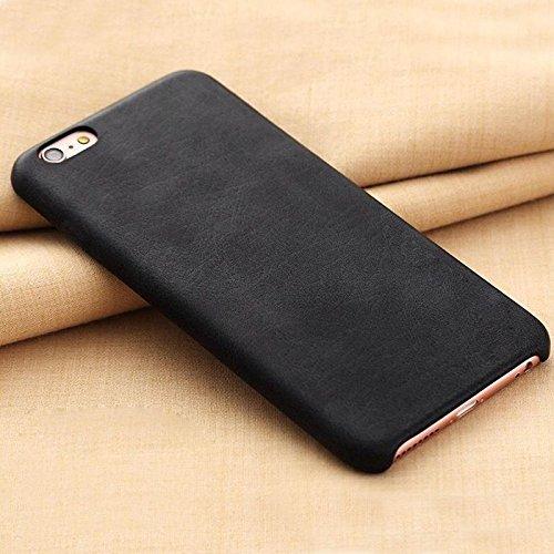 Vintage Handy Schutz Hülle für Apple iPhone 7 aus Hochwertigem PU Leder / Retro Handy Tasche Back Cover Leather Case Bumper aus Kunst - Leder in Schwarz