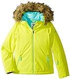 Roxy Big Girls' American Pie Solid Snow Jacket, Lemon Tonic_Gana Emboss, 10/Medium