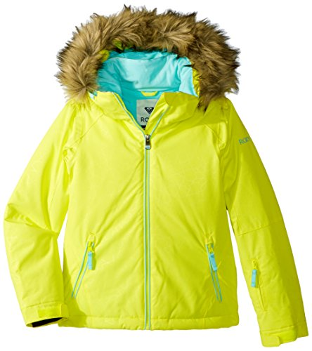 Roxy Big Girls' American Pie Solid Snow Jacket, Lemon Tonic_Gana Emboss, 10/Medium by Roxy
