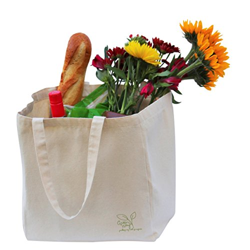 Eco-Friendly, Reusable, sustainable natural Canvas Tote