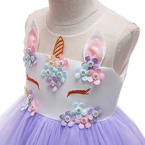 9a499199ca97e7 Ibtom Fille 13 Princesse Robe Tutu Fête Spectacle Enfant Violet Ans ...
