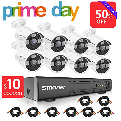 【2019 New】16 Channel Security Camera System,SMONET 5-in-1 HD DVR Security Camera System(1TB Hard Drive),8pcs 1080P Outdoor Home Security Cameras,DVR Kits for Easy Remote Monitoring,Super Night Vision - New Channel Set
