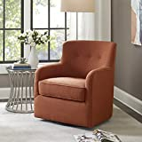 Madison Park Adele Swivel Chair Spice See Below