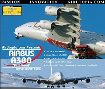 AirUtopia : AIRBUS A380 THE FIRST YEARS 'Super Jumbo Rising' Video DVD-(Airport, airliner, plane, airplane, aircraft FILM) by Aviation Data Corp.