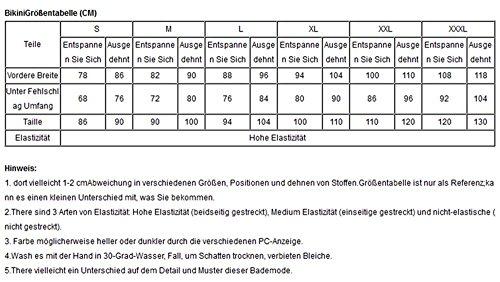 LETSDO New Fließende Layered Swimdress Tankini Top 1pc (XL Größe Kann Nur die Größentabelle Folgen, Schwarz) Schwarz