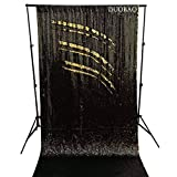 DUOBAO Sequin Backdrop Curtains 2 Panels 4FTx8FT Reversible Sequin Curtains Black to Gold Mermaid Sequin Curtain for Wedding Backdrop Party Photography Background