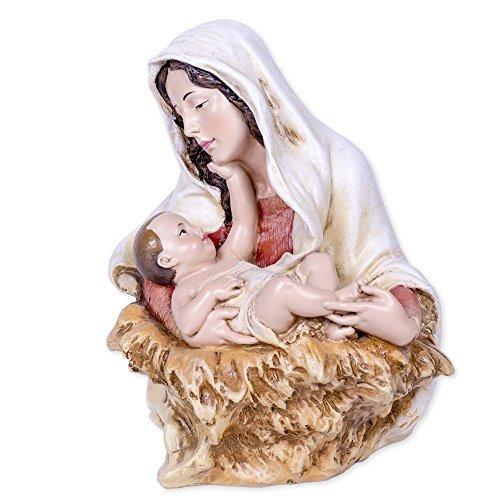 A Child's Touch Madonna & Child 7 inch Joseph's Studio Stone Bust -