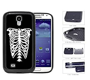Rib Cage Skeleton Black And White 2-Piece Dual Layer High Impact Rubber Silicone Cell Phone Case Samsung Galaxy S4 SIV I9500