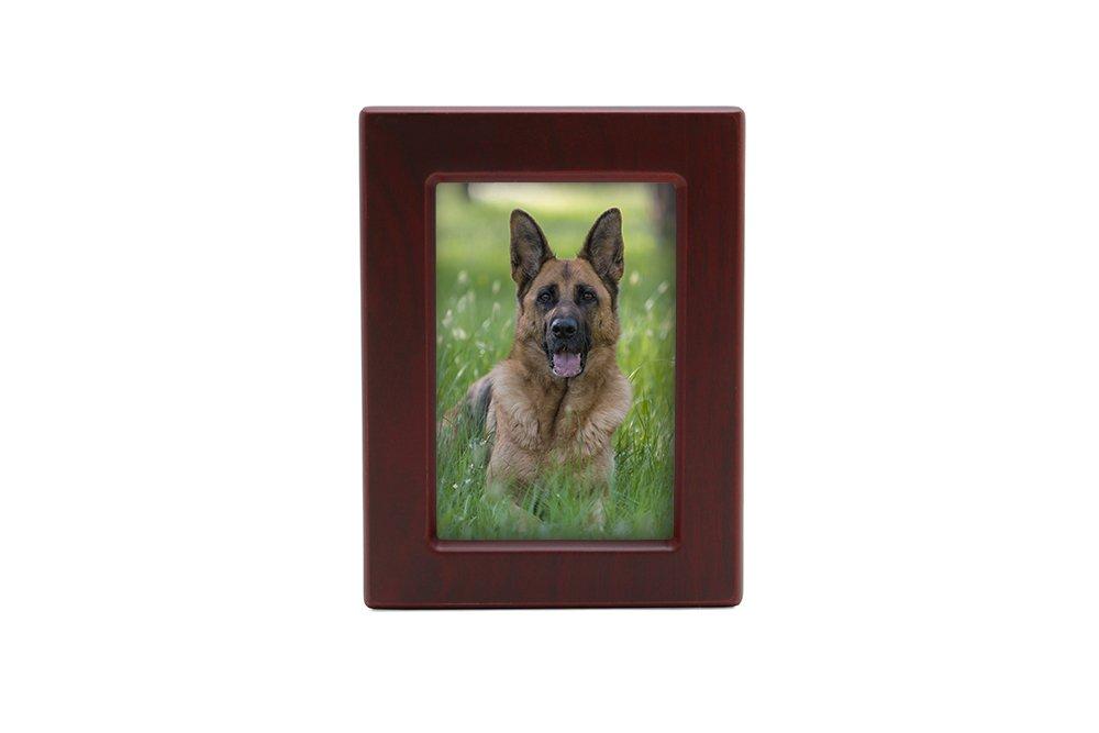 Near & Dear Pet Memorials MDF Pet Photo Cremation Urn, 85 Cubic Inch, Cherry Finish by Near & Dear Pet Memorials