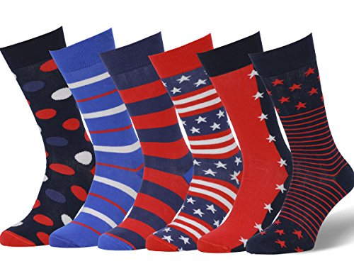 - Easton Marlowe Men's Colorful American Flag Patriot Dress Socks - 6pk #34, mixed - patriot pack - 39-42 EU shoe size