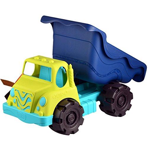 "B. Toys – Colossal Cruiser – 20"" Large Sand Truck – Beach Toy Dump Trucks for Kids 18 m+ (Lime/Navy)"
