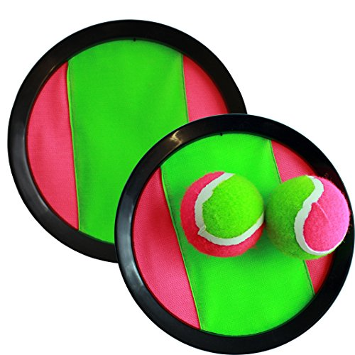 Sports Latch Hook (Hook and Latches Toss and Catch sport game for 2 players with 2 balls in a Mash bag(assorted colors))