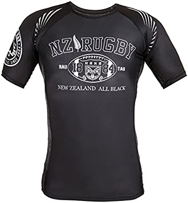 Dirty Ray Rugby New Zealand All Black camiseta rashguard hombre ...