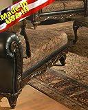 Roundhill Furniture San Marino 2-Tone Fabric Chaise, Chocolate For Sale
