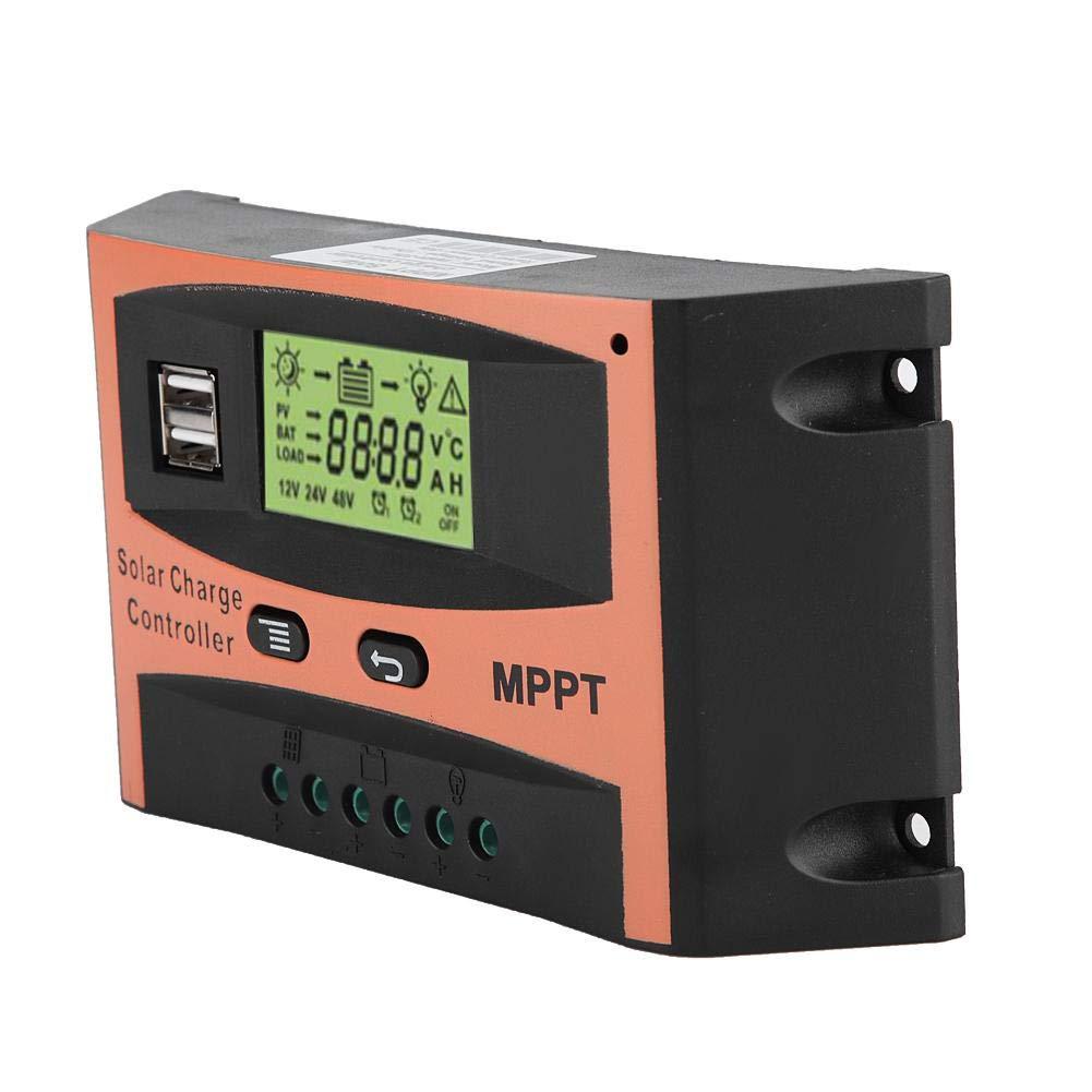50A 24 V Panel solar Regulador Pantalla LCD Controlador autom/ático de bater/ía Akozon MPPT Controlador de carga Placa de circuito PCB 12 V